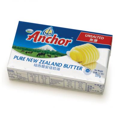 BƠ LẠT ANCHOR - ANCHOR UNSALTED BUTTER NEW ZEALAND - MIẾNG 227g