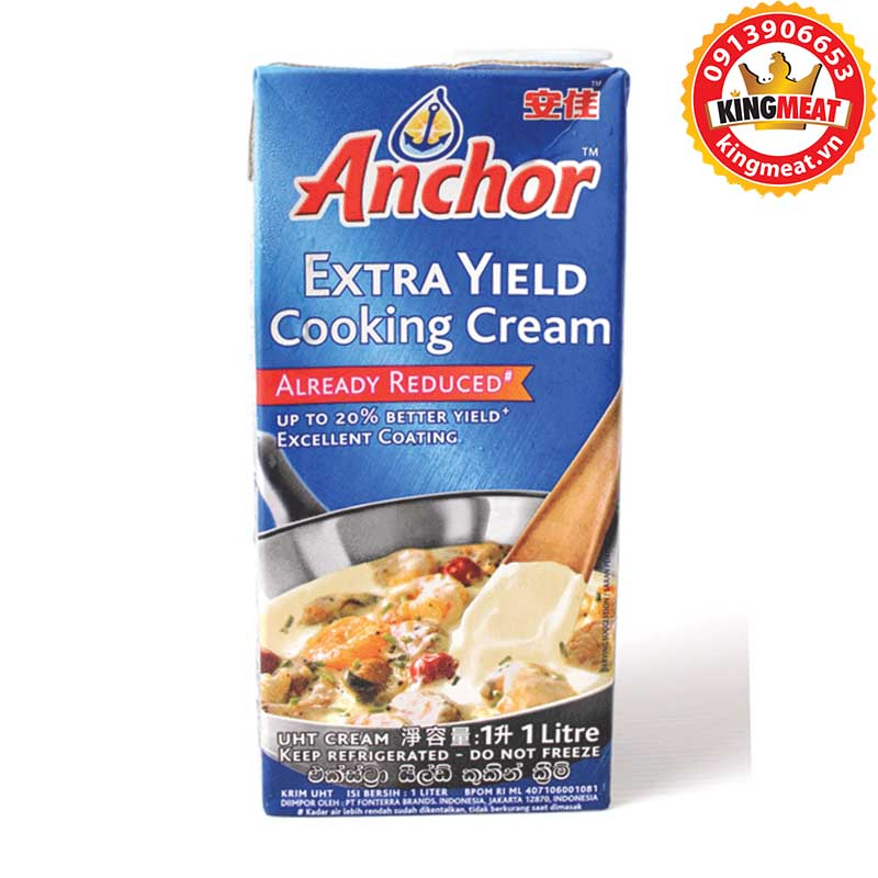 KEM NẤU COOKING ANCHOR - ANCHOR EXTRA YIELD COOKING CREAM - HỘP 1 L