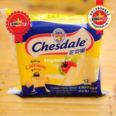 PHÔ MAI LÁT CHEDDAR VỊ SỮA HIỆU CHESDALE (MAINLAND) -CHEDDAR CHEESE SPREAD PROCESSED SLICED CHESDALE (MAINLAND) - 250gr (12 MIẾNG)