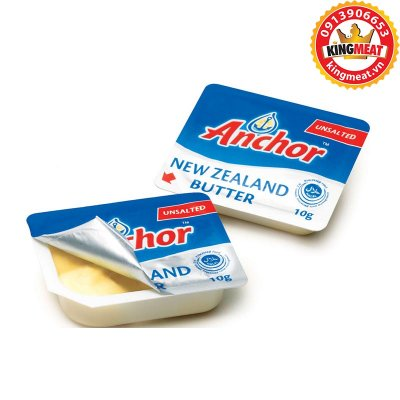 BƠ LẠT ANCHOR- ANCHOR UNSALTED BUTTER NEW ZEALAND - VỈ 10g