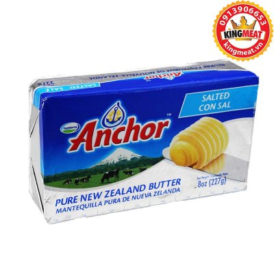 BƠ LẠT ANCHOR - ANCHOR UNSALTED BUTTER NEW ZEALAND - MIẾNG 227g