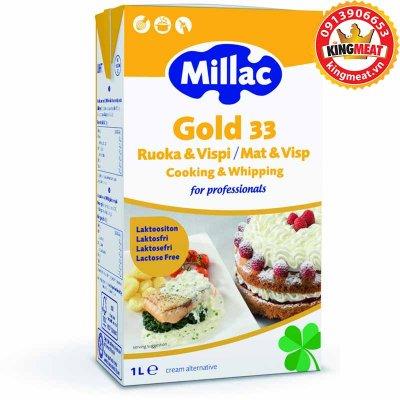 KEM SỮA TƯƠI MILLAC GOLD-MILLAC GOLD 33-34 - RUOKA&VISPI/MAT&VISP-HỘP 1 L