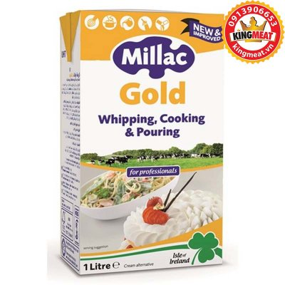 KEM SỮA NẤU MILLAC GOLD -MILLAC GOLD WHIPPING COOKING & POURING -HỘP 1 L
