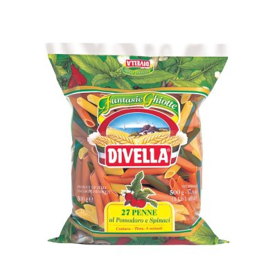 NUI ỐNG TRE PENNE SPINACI 27 (DIVELLA) 500GR