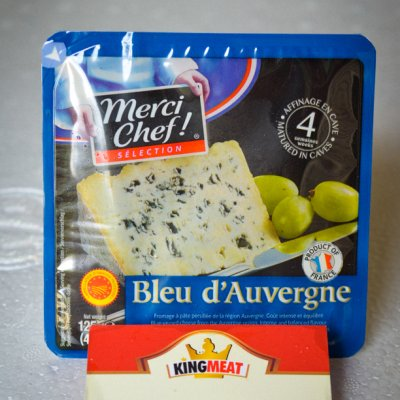 PHÔ MAI DÊ BLUE D'AUVERGNE MERCI CHEF - MERCI CHEF BLUE D'AUVERGNE CHEESE - MIẾNG 125gr