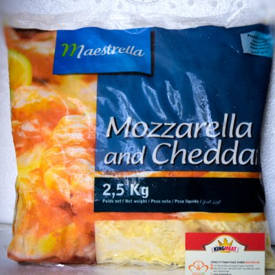 PHÔ MAI MOZZA & CHEDDAR BÀO SỢI - FRENCH MOZZA & CHEDDAR MIX SHREDDED - GÓI 2,5 KG