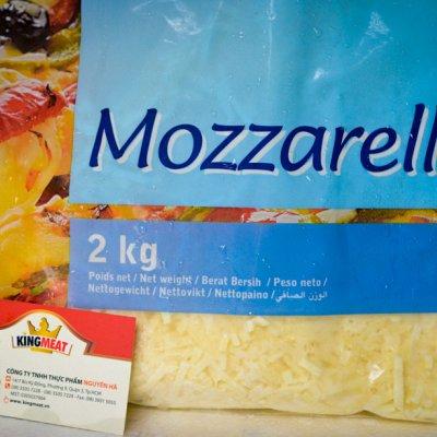PHÔ MAI BÀO SỢI MOZZARELLA MAESTRELLA - FRENCH MOZZARELLA SHREDDED MAESTRELLA - GÓI 2 KG