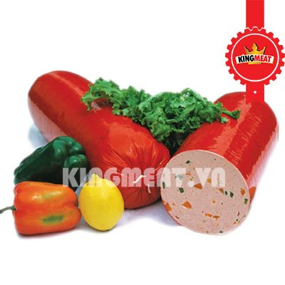 CHẢ CUỐN ỚT (NGUYÊN KHỐI) - COLD CUT WITH CARROTS & GREEN PEPPERS (WHOLE)