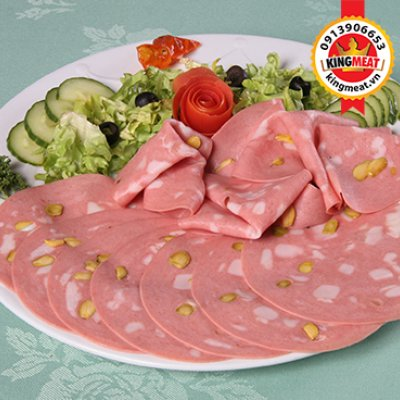 MORTADELLE WITH PISTACHEE  (NGUYÊN KHỐI) - MORTADELLA WITH PISTACHIOS (WHOLE)