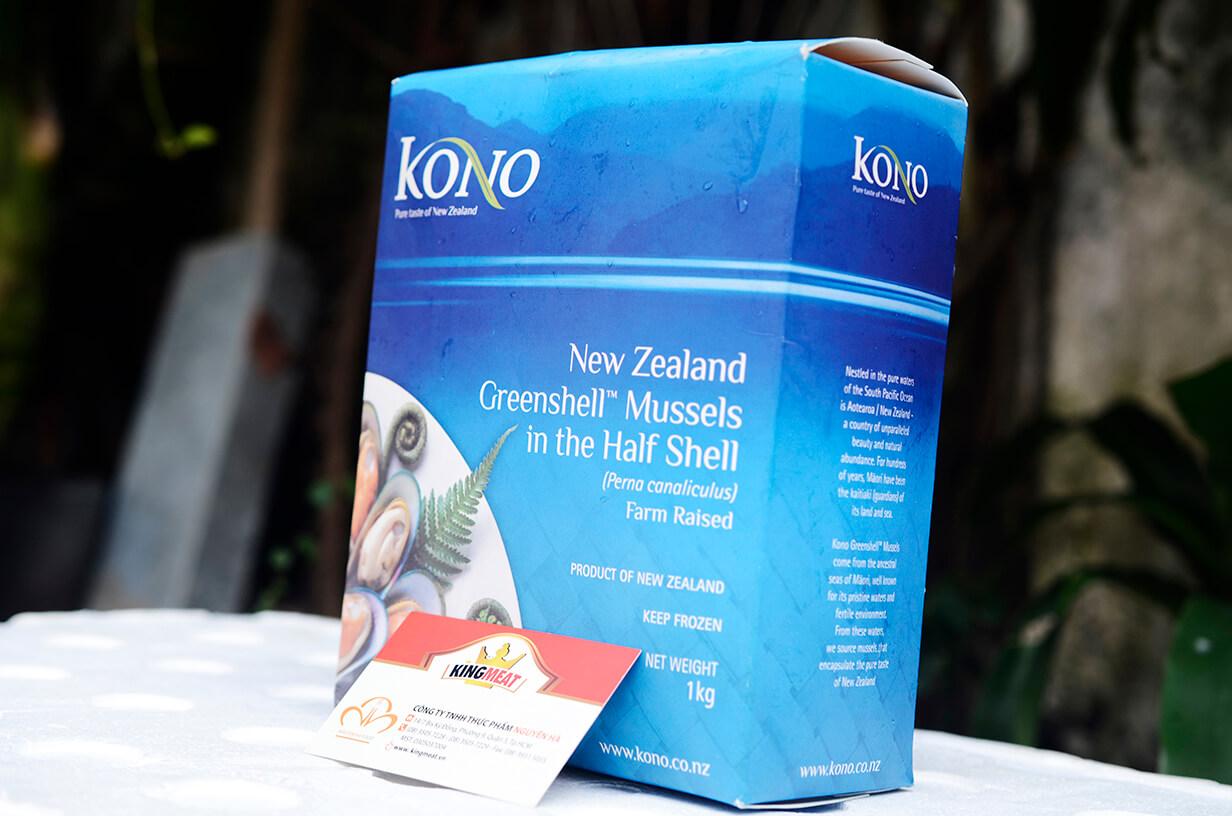VẸM XANH NEW ZEALAND SIZE M - NEW ZEALAND FROZEN GREEN H/S MUSSEL SIZE M  - 30-45 CON/ KG