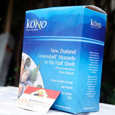 VẸM XANH NEW ZEALAND SIZE M - NEW ZEALAND FROZEN GREEN H/S MUSSEL SIZE M  - 30-45 CON/ KG