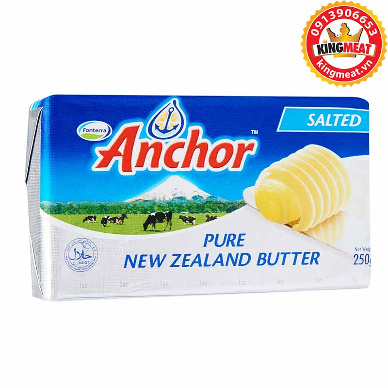 BƠ MẶN ANCHOR - ANCHOR SALTED BUTTER NEW ZEALAND - MIẾNG 250g
