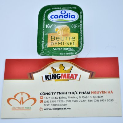 BƠ MẶN CANDIA 10G - CANDIA 82%UNSALTED BUTTER 10G CUP VSF