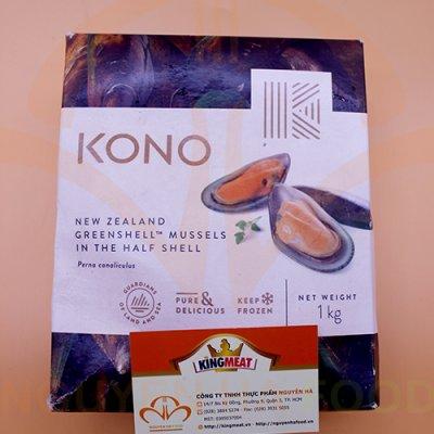 VẸM XANH NỬA VỎ KONO NEWZEALAND GREENSHELL MUSSELS IN THE HALF SELL HỘP 1KG (60GR/CON)