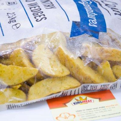 Khoai tây McCain Cắt múi tẩm tỏi  – McCain Country Potato Wedges -2.5kg/bao
