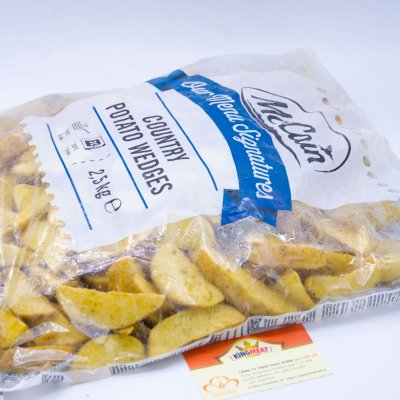 Khoai tây Cắt múi tẩm tỏi McCain – McCain Country Potato Wedges -2.5kg/bao