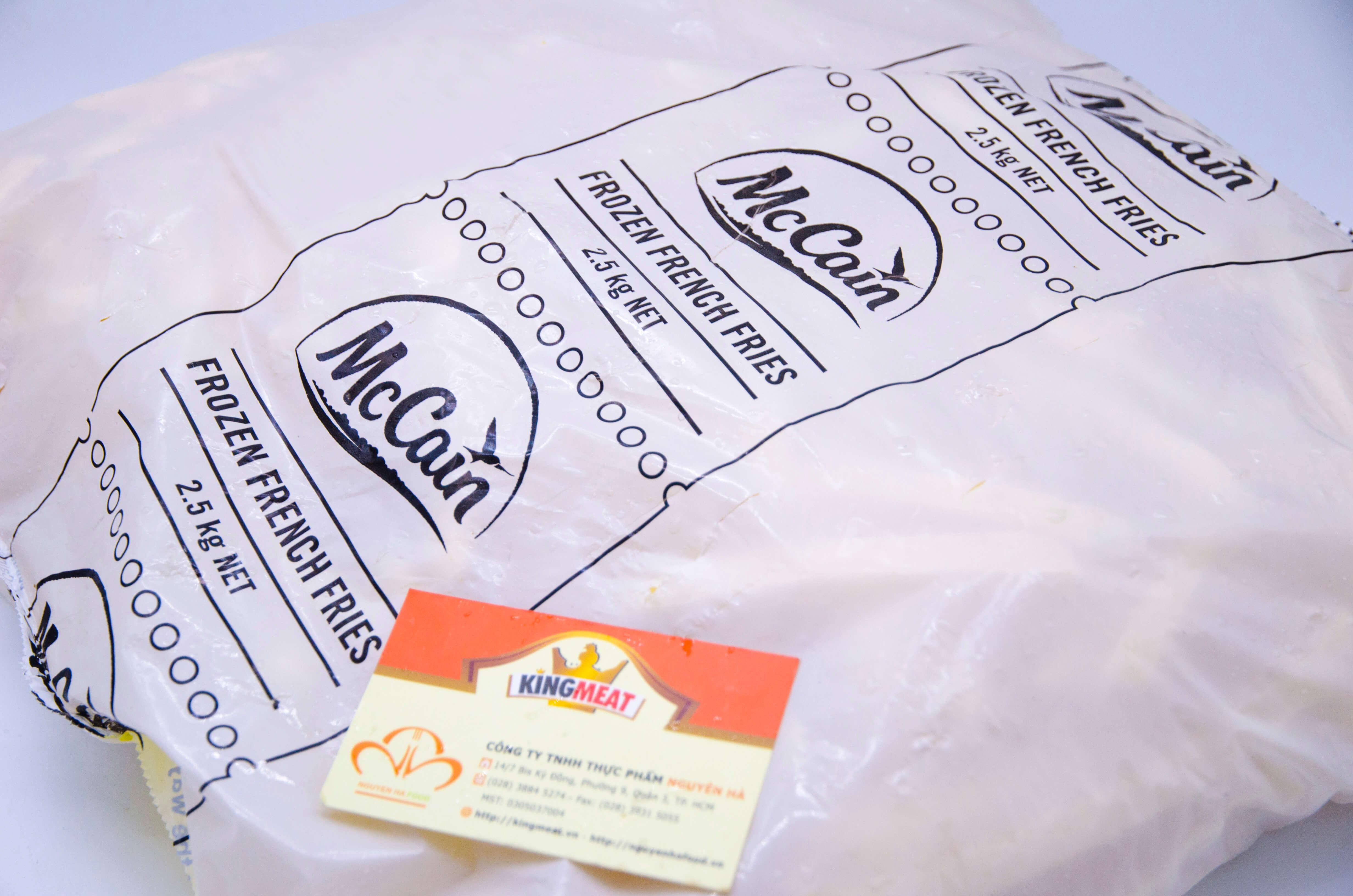 Khoai tây  McCain Cọng lớn  3/8 (~10mm) - McCain Straight Cut Fries 3/8 (~10mm) – 2.5kg/bao