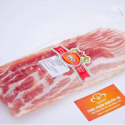 BA RỌI XÔNG KHÓI TƯƠI CẮT LÁT - SMOKED BACON - SUPERIOR SLICED (500GR/GÓI)