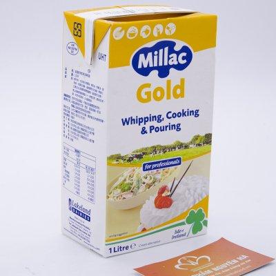 KEM SỮA TƯƠI MILLAC GOLD -MILLAC GOLD WHIPPING CREAM -HỘP 1 L