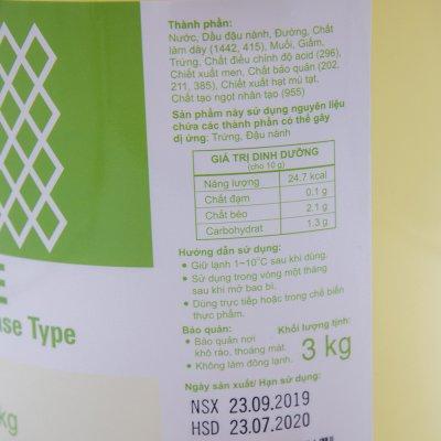 XỐT MAYONNAISE BASE TYPE (HORECA) KEWPIE (XÔ 3 KG)