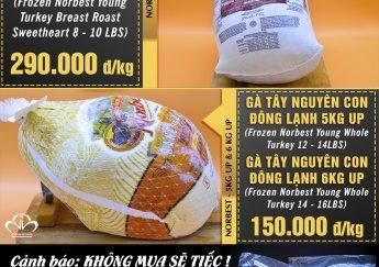 BẢNG GIÁ CÁC MẶT HÀNG NOEL NĂM 2019 (NGUYÊN HÀ FOOD)
