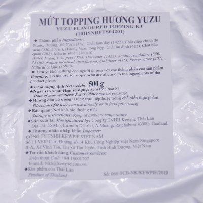 MỨT TOPPING HƯƠNG YUZU – YUZU FLAVOURED TOPPING (500GRAM/GÓI, 24 GÓI/THÙNG)