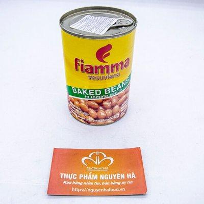 ĐẬU SỐT CÀ FIAMMA 400GRAM/LON – 24 LON/THÙNG