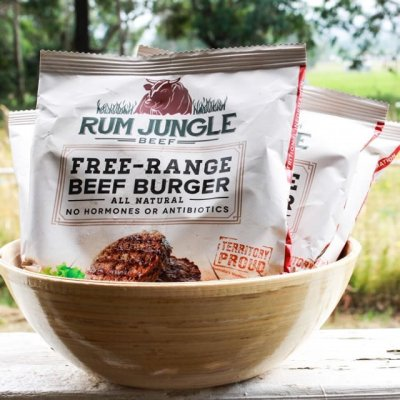 Hamburger bò Úc Rum Jungle - gói 150gr