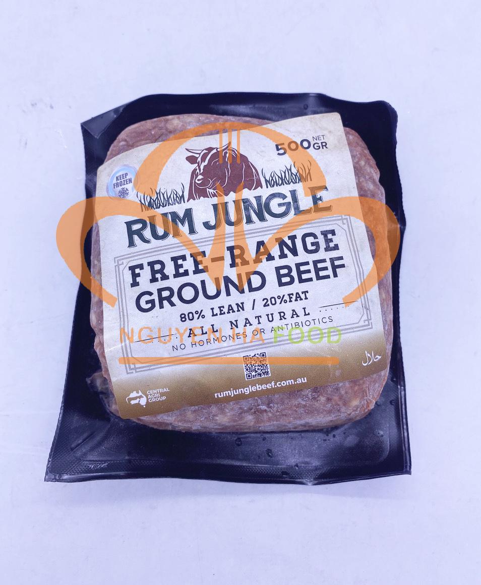 Thịt Bò Úc xay Rum Jungle 500g