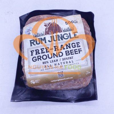 Thịt bò Úc xay Rum Jungle  - gói 500gr