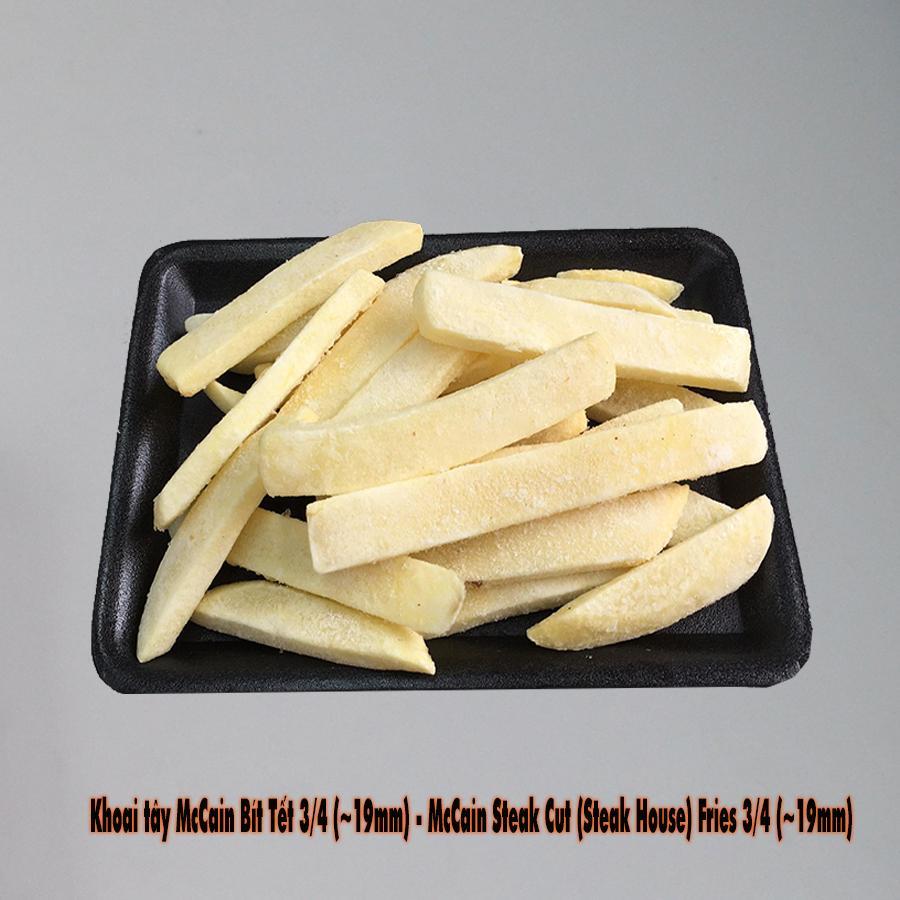 Khay khoai tây Mỹ 500gr -McCain Bít Tết 3/4 (~19mm)