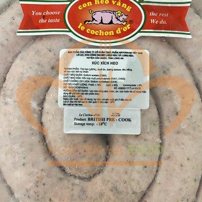 Xúc xích Anh nấu cuộn 2m (British sausage recook - British Banger) - Gói 2 kg