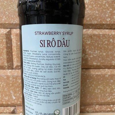 Si rô dâu Osterberg – strawberry syrup (chai 750ml)