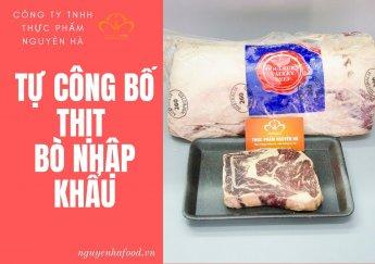 Cách doanh nghiệp tự công bố thịt bò đông lạnh nhập khẩu