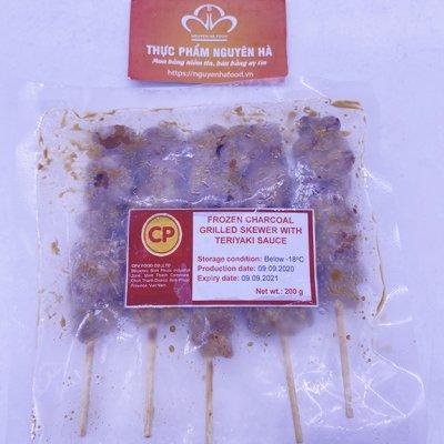 Gà xiên que teriyaki ( charcoal grilled skewer teriyaki sauce)