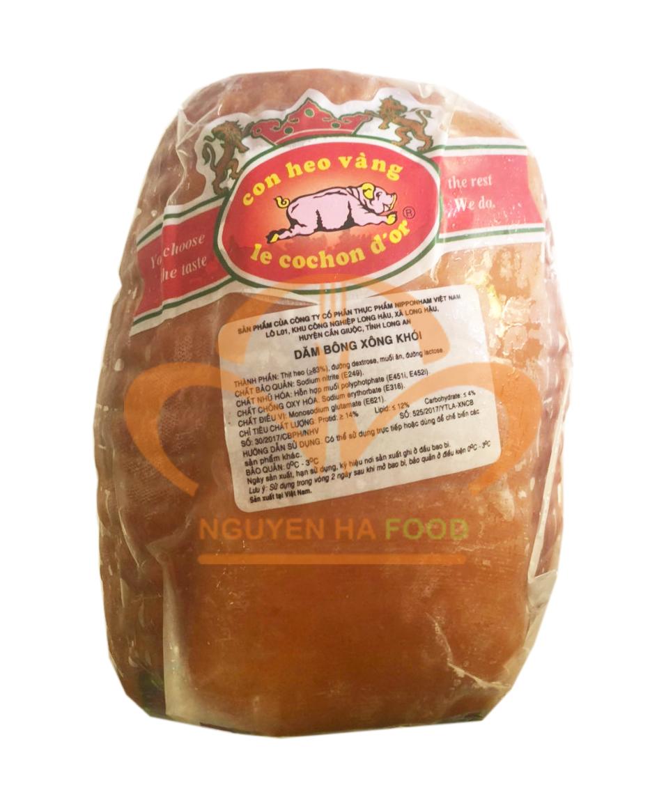 Dăm bông xông khói nguyên khối - Smoked ham(~2,5 kg/khối)