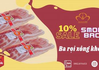 Giảm 10%  Ba Rọi Xông Khói Tươi - Smoked Bacon Nipponham