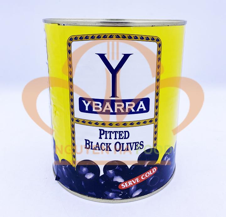 Trái oliu đen tách hạt Ybarra (lon 3kg)