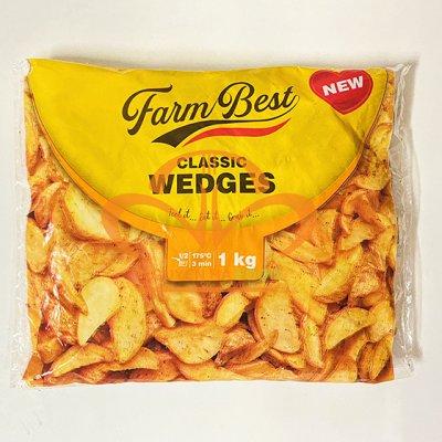 Khoai Tây Cắt Múi Tẩm Gia Vị Classic Wedges (1kg/bao, 10kg/thùng)