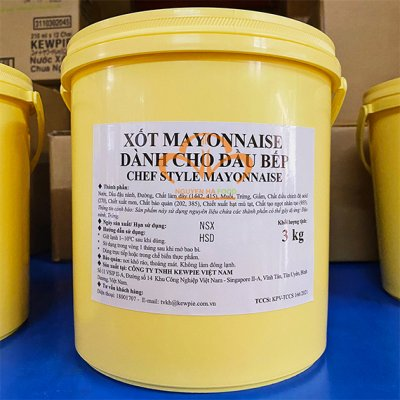 Xốt Mayonnaise Kewpie Dành Cho Đầu Bếp - Kewpie Chef Style Mayonnaie 3kg