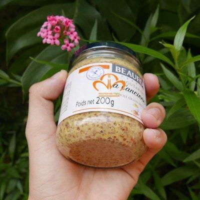 Hạt Mù Tạt Vàng - Whole Grain Mustard (Beaufor) Hũ 200gr