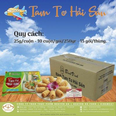 Bánh Cuộn Tam Tơ Hải Sản Gói 250gr