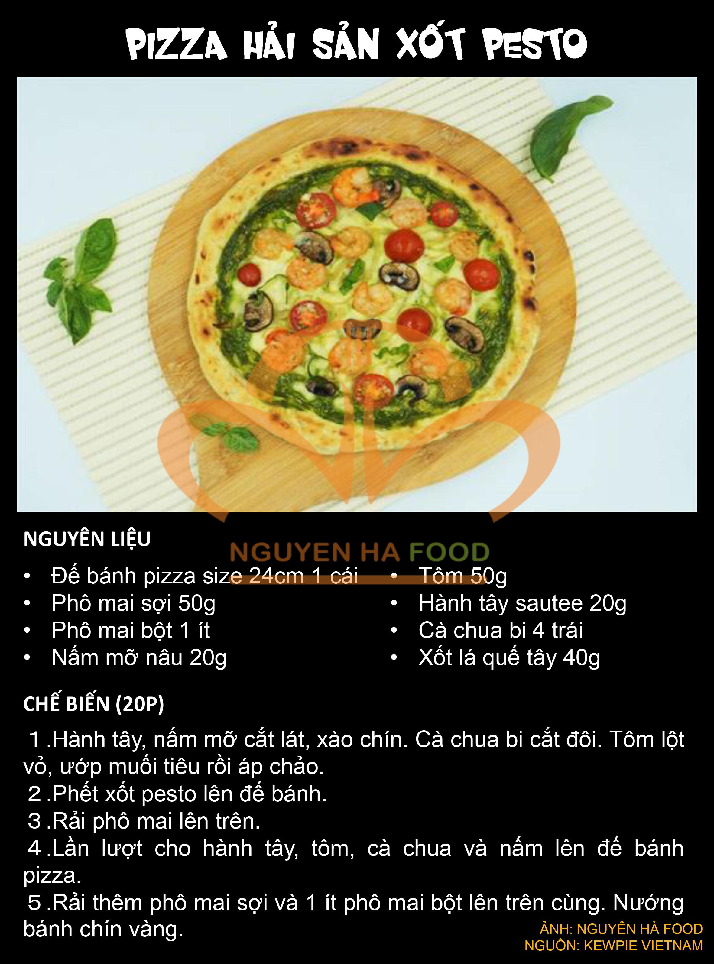 4 PIZZA HAI SAN XOT PESTO KEWPIE - NGUYEN HA FOOD