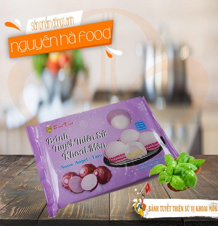 BANH MOCHI TUYET THIEN SU VI KHOAI MON - BINH VINH - NGUYEN HA FOOD (15)