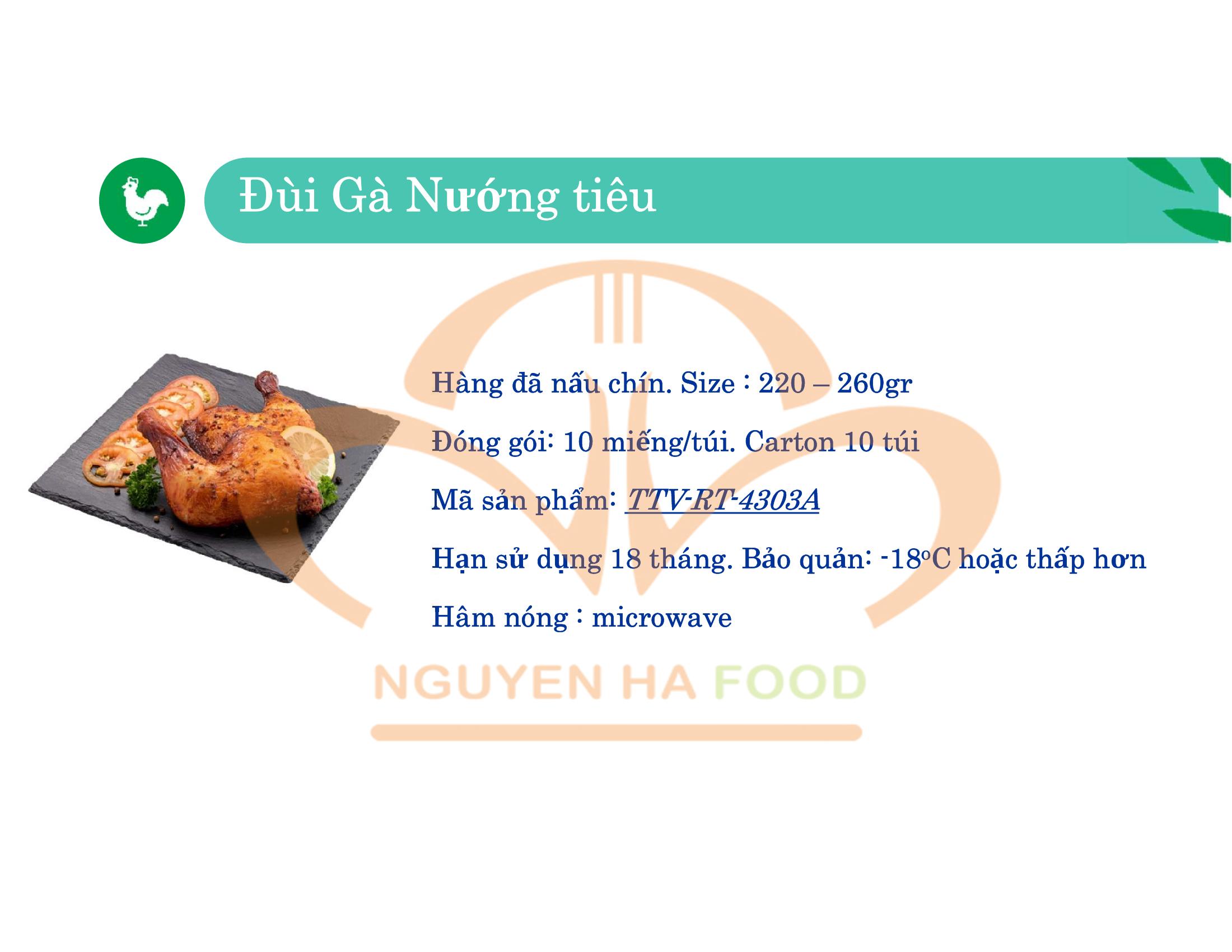 02 DUI GA NUONG TIEU CP NGUYEN HA FOOD
