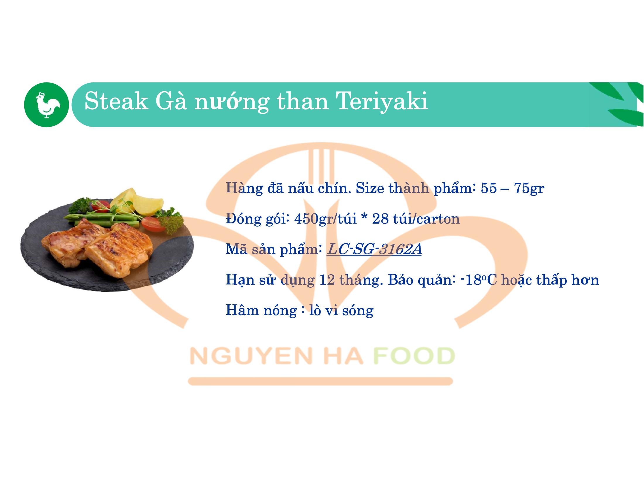 02 STEAK GA NUONG THAN TERIYAKI CP NGUYEN HA FOOD
