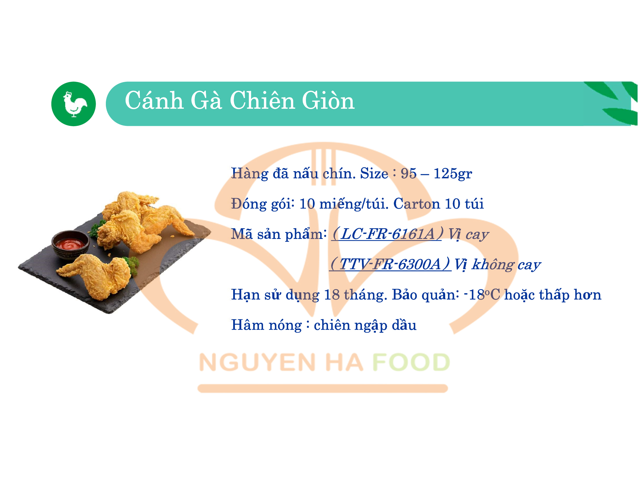 05 CANH GA CHIEN GION CP NGUYEN HA FOOD