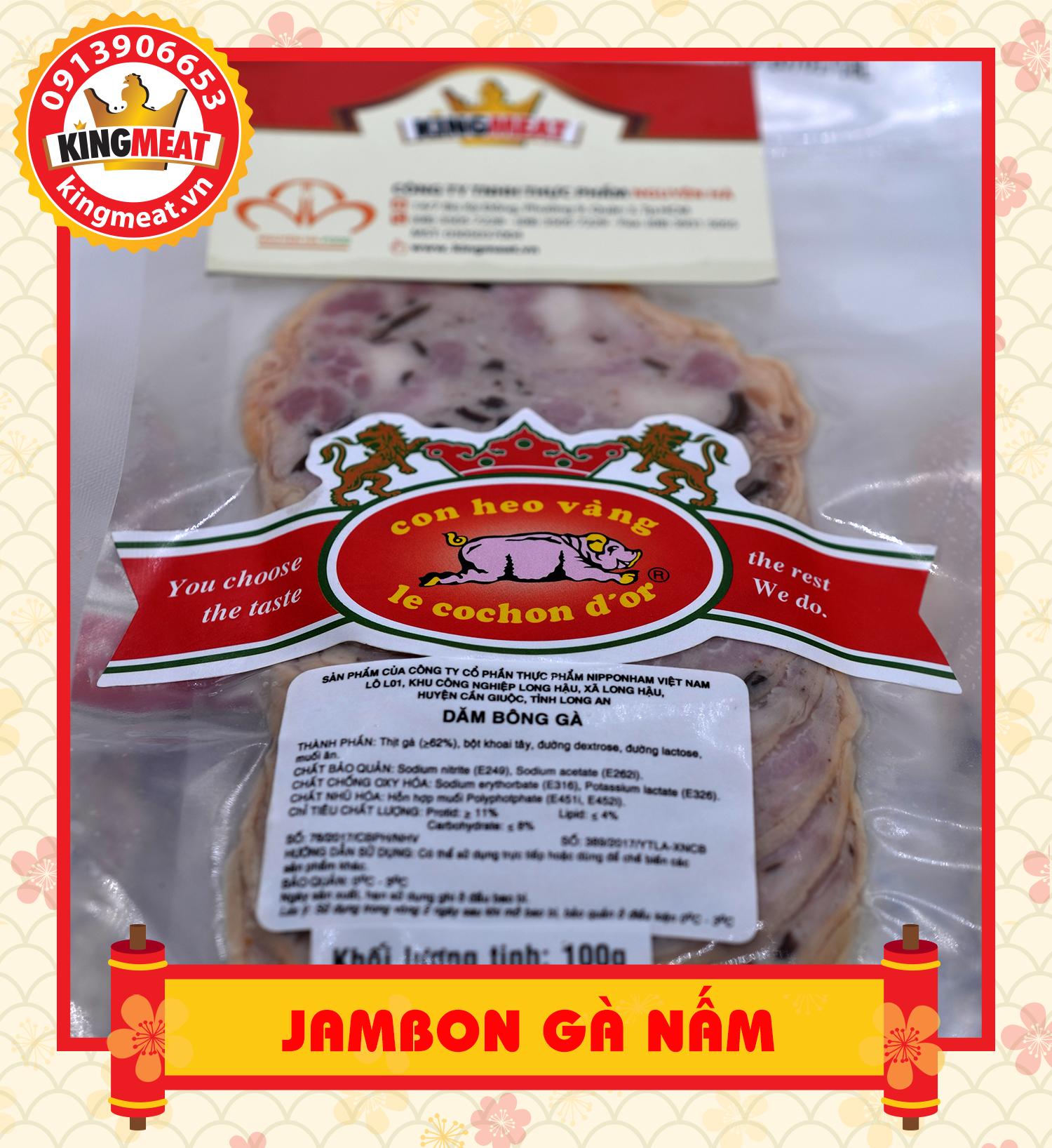 jambon gà nấm