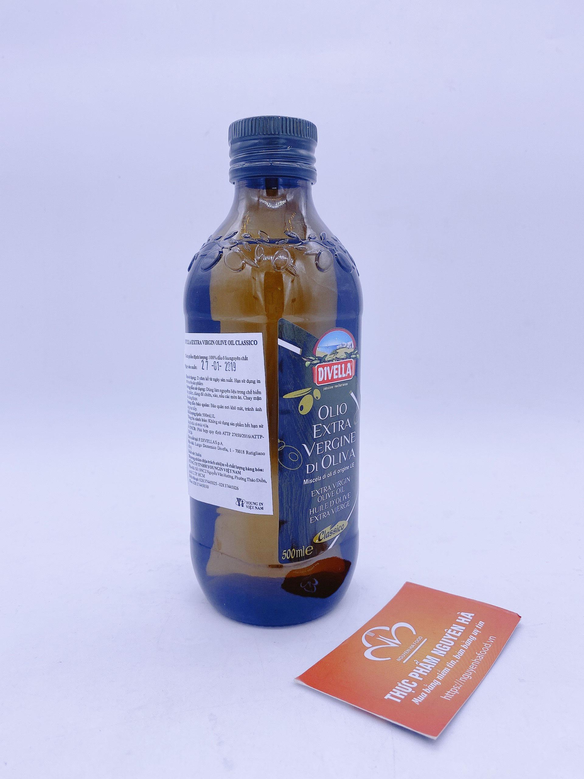 Dầu Oliu Extra Virgin Divella 500 ml