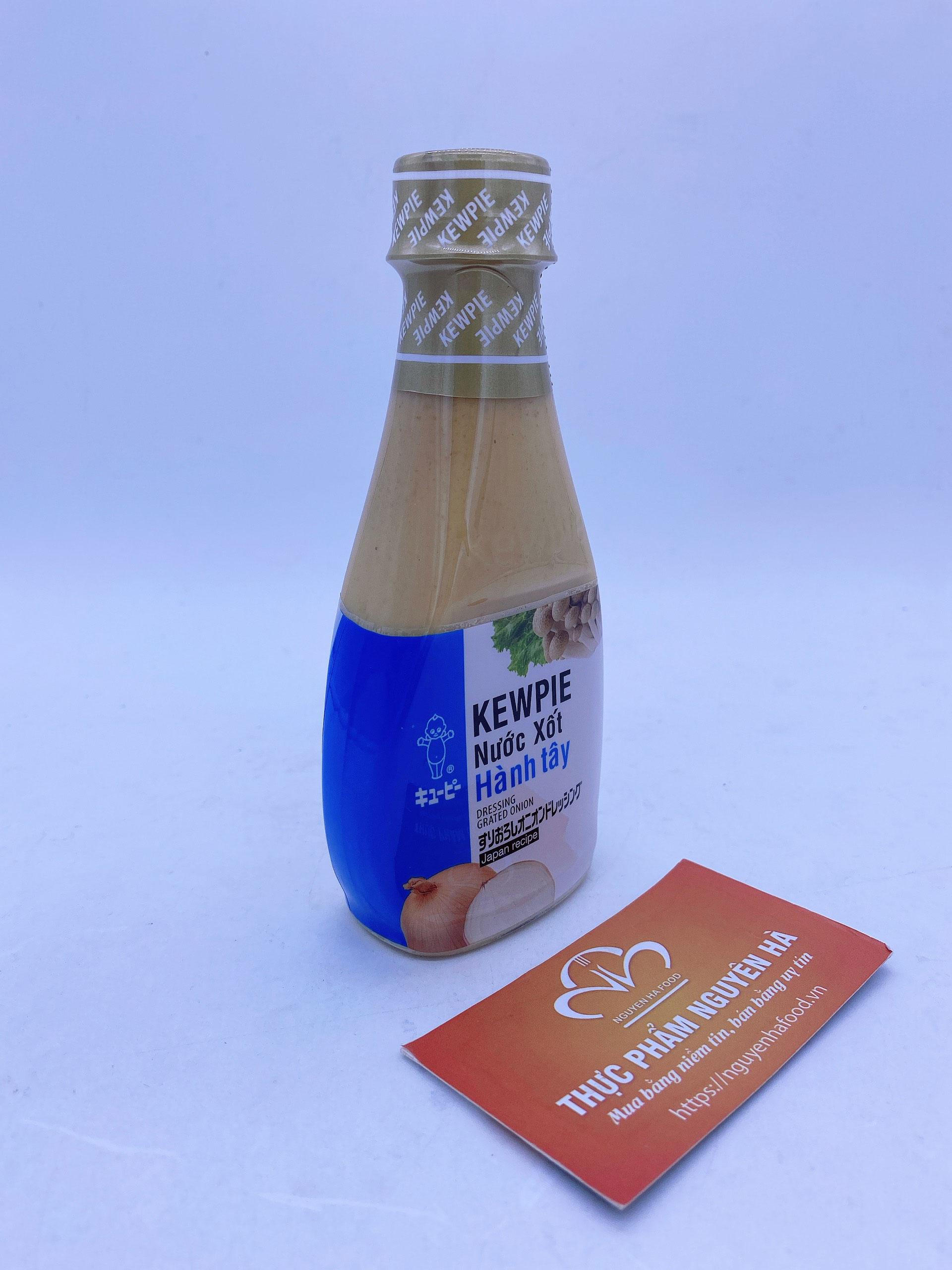 Nước xốt hành tây Kewpie- Dressing grated onion chai 210ml
